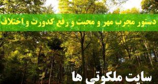 دستور مجرب مهر و محبت و رفع کدورت و اختلاف میان زن و شوهر