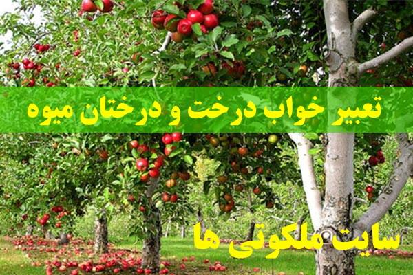تعبیر خواب درخت و درختان میوه - دیدن درخت پرمیوه در خواب تعبیرش چیست