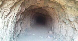 نشانه خاک نرم داخل تونل و تپه باستانی در گنج و دفینه یابی
